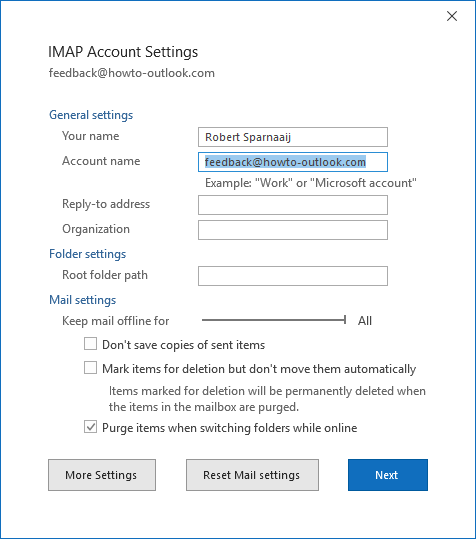 Rename Email Accounts and Mailbox Folders - HowTo-Outlook