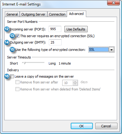 Configure Outlook with an Outlook com (Hotmail), Gmail