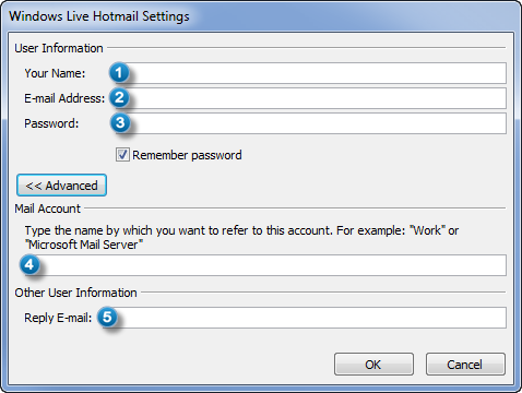 Settings Outlook Connector