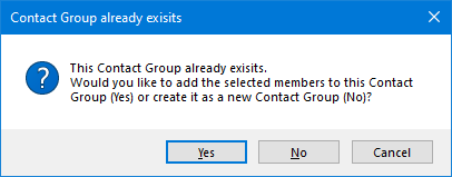 You can even quickly add selected contacts to an existing Contact Group.
