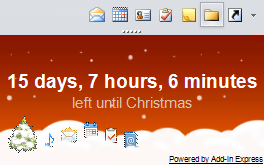 download free outlook christmas day countdown add in