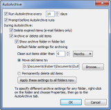 AutoArchive Options (click on image to enlarge)