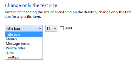 how to change font size in outlook windows 10