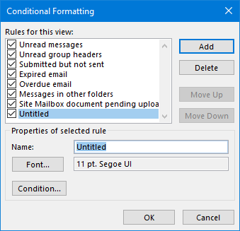Adding a new Conditional Formatting rule.