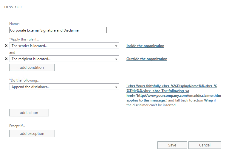 Setting Up A Corporate Signature Howto Outlook