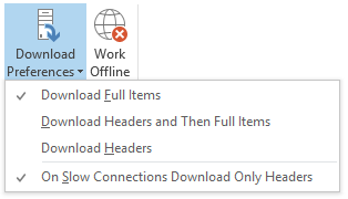 Download Preferences - Download Full Items - Download Headers and Then Full Items - Download Headers - On Slow Connections Download Only Headers