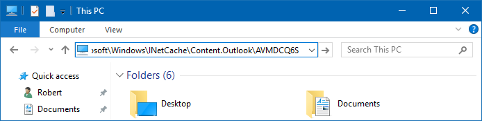 Error opening attachments / Cleaning out the Temporary Outlook Files