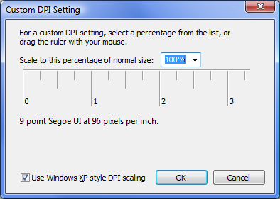 DPI settings in Windows Vista