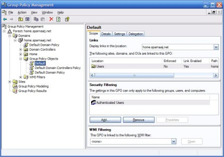 Group Policy Management Console (click on image to enlarge)