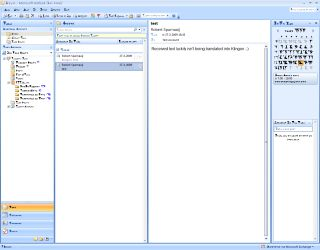 Klingon mail Outlook window small