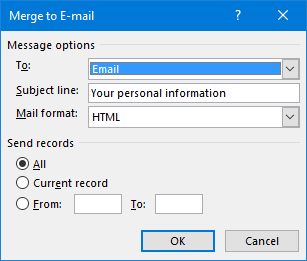 Mail Merge: Automatically generate and send personalized emails