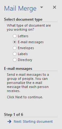 Mail Merge Wizard