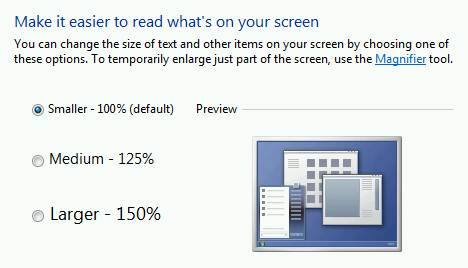 Windows 7 - Make it easier to read what's on your screen