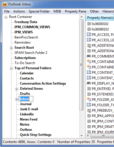 Renaming a default folder via MFCMAPI