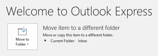 Even eml-files from Outlook Express can be opened and saved in Outlook.