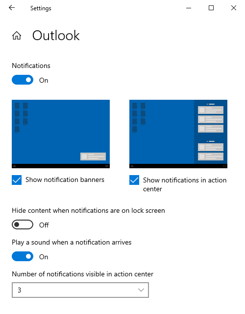 Windows 10 (May 2019 Update or earlier) and Outlook - HowTo
