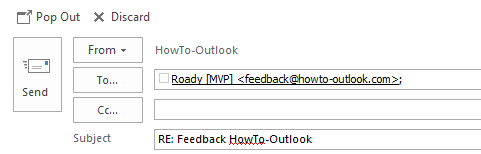 Pop Out - In-line reply in Outlook 2013