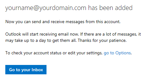 Hotmail - Great! We'll start getting your messages now.