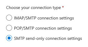 Outlook.com - Connected Accounts - Manual Configuration - SMTP send only
