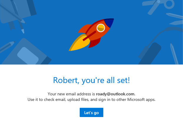Create a new Outlook.com account. Done!