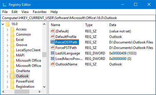 Moving the ost-file of an Exchange, Outlook com or IMAP