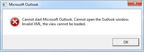 Cannot open the Outlook window