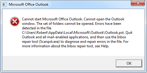 scanpst exe outlook 2007