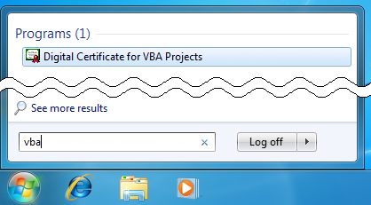digital certificate for vba projects download