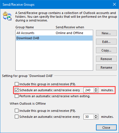Outlook inbox not updating automatically