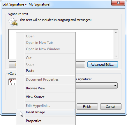 Using images in signatures howto outlook insert pictureimage options in the outlook editor click on images to enlarge reheart Gallery
