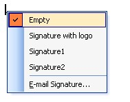 Right click in the Signature area to change the signature