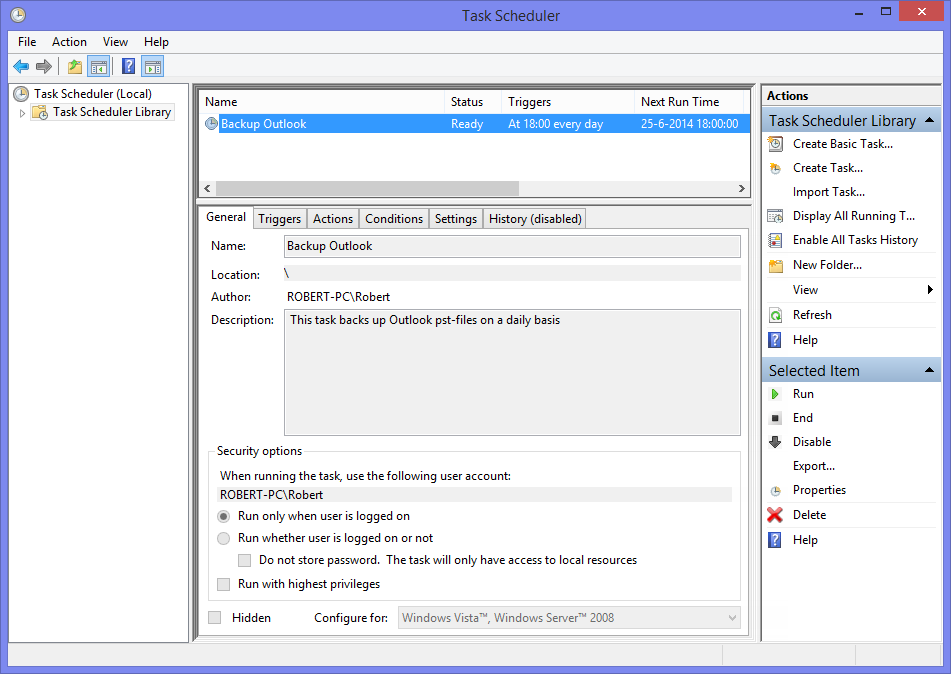 Script To Schedule Your Pst File Back Up Howto Outlook