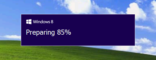how to update from xp to windows 8